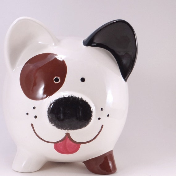 Puppy Dog Piggy Bank - Personalized Dog Bank - Beagle Bank - Cute Piggy Bank - Personalized Dog Lovers Bank - with hole or NO hole in bottom