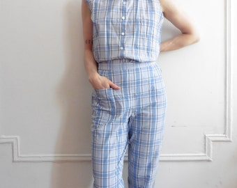 Kenzo Album by Kenzo Two piece Plaid Pants and Top Set
