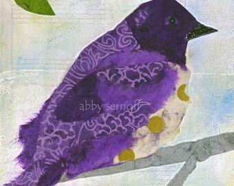 Unique Bird Decor, Bird Artwork, Bird Art Print, Bird Painting, Starling, Bird Lover, Woodland Creature, Room Decor, Art Print, Giclee