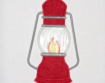 "Embroidered Iron On Applique-""Lantern""   RTS"