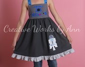 R2D2 Dress Swing Top Ready to Ship Size 7 8 10 12