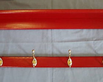 36 Inch Country Coat Rack Wall Shelf with Open Back