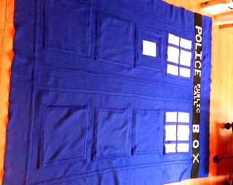 Fleece Tardis Blanket