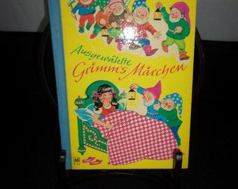 Vintage German Children's Book Ausgewahlte Grimm's Marchen Grimm's Fairy Tales