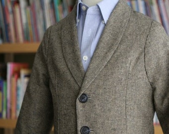 Tweed wool coat suit jacket for baptism first communion christening special occasion