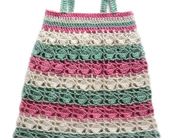 Circles and Stripes Baby Dress (5 Sizes) - PDF Crochet Pattern - Instant Download