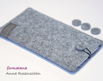 phone case gray felt case for iPhone  leather strap case sleeve pouch dot design felt for iPhone 4 5 6 6s plus  Samsung HTC smartphone cell