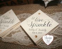 Sparkler Tag, Wedding Sparkler Tags 50 pieces, Let Love Sparkle Favors Tag, Wedding Favors Let Love Sparkle, Wedding Favors