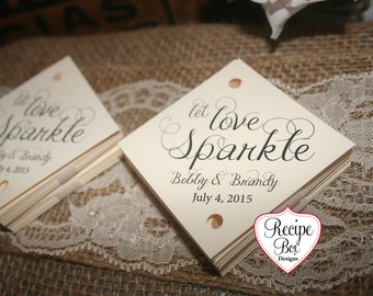 Let Love Sparkle Sparkler Send Off Tags Wedding