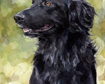 Custom Dog Watercolor Painting 5x7 Realistic Pet Portrait