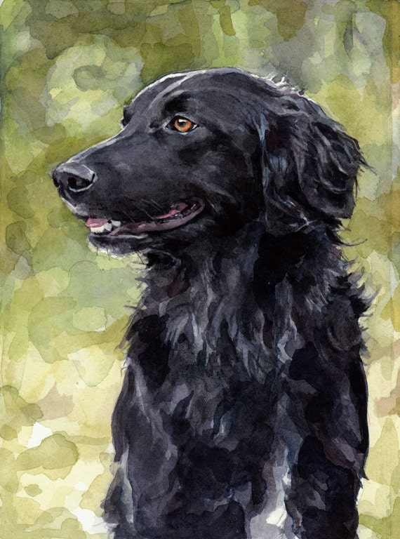 Custom Dog Watercolor Painting 5x7 Realistic Pet Portrait