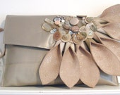 Nude leather clutch bag, statement bag, beige bag, statement leather clutch, natural