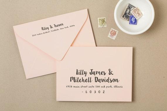 How Do I Address Wedding Invitations: Printable Wedding Envelope Template INSTANT DOWNLOAD