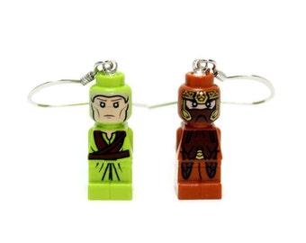 Legolas and Gimli Earrings made from Genuine LEGO® Microfigs