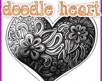 Shading a Doodle Heart