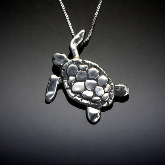 sea turtle necklace sterling silver turtle jewelry