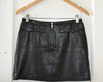 unique danier leather skirt related items etsy