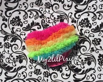 Baby Bloomer Rainbow, Diaper Cover, Ruffle Bloomer, Ruffle Bottom Bloomer, Newborn bloomer. Baby Shower Gift, Cake smash bloomer. Baby Girl