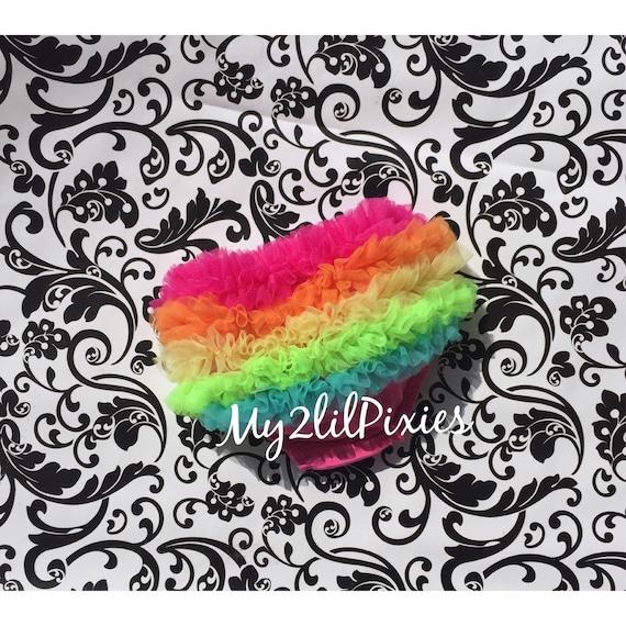 Rainbow Baby Chiffon Ruffle Bloomer