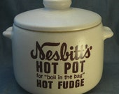 Vintage Nesbitt's Hot Pot Hot Fudge Warmer - West Bend Pot