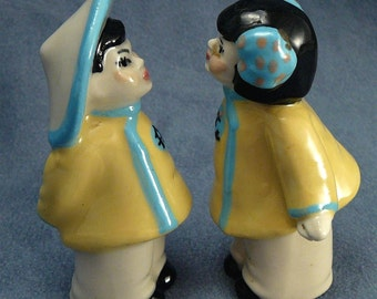 Ceramic Arts Studio Chinese Couple Vintage Figures