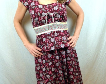 Vintage 1970s Byer Too! Boho Hippie Maxi Dress
