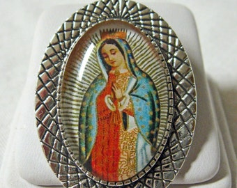 Our Lady of Guadalupe brooch/pin - BR10-003