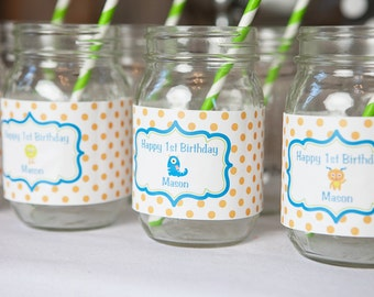 Monster Water Bottle Labels - Monster Birthday Party Decorations - Monster 1st Birthday - Monster Bash - Little Monster Party - Monster (12)