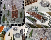 Punch Needle Pattern - Grandma's House - #PN524- Needlepunch Embroidery