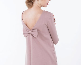 Dusty rose dress | Spring dress | Dress with pockets | LeMuse spring dress