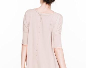 Summer dress | Nude dress | One size dress | Back button dress | LeMuse summer dress