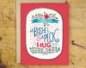 A Bushel & a Peck Greeting Card | Love and Friendship Greeting Card | Hand Lettered | Red | A2 | Made in the USA | GC 007
