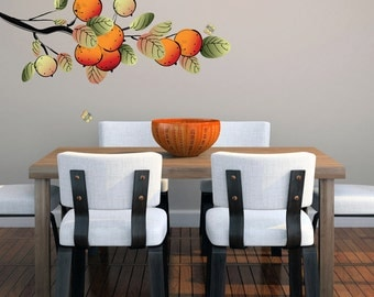 Oranges Branch - Printed Trees and Branches Wall Decals