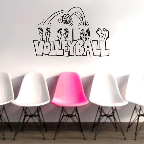 Volleyball Cartoon Sports Wall Decals