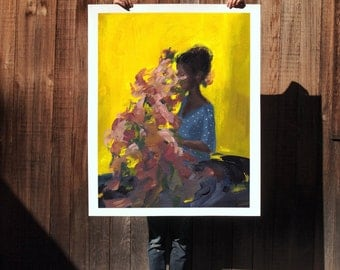 Overgrown .  extra large wall art . giclee print