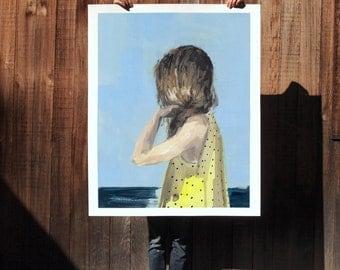 Seaside .  extra large wall art . giclee print