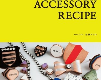 Leather Accessories Recipe, Japanese Leather Craft Pattern Book, Leather Bracelet, Bangle, Necklace, Brooch, Headband, Ring, Earrings, B1563