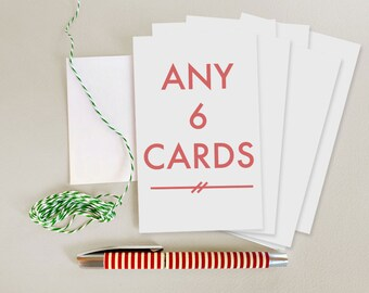 6 Card Set - Choose any 6 cards