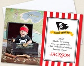 Pirate Party Photo Thank You Cards - Professionally printed *or* DIY printable