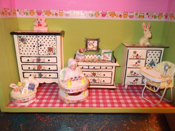 Baby Bedroom In A Box Special: Baby Girl Nursery Shadow Box