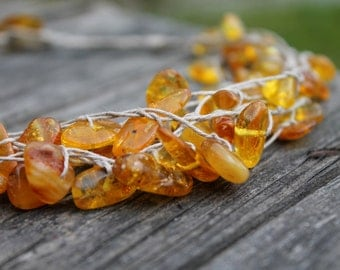 Genuine Baltic Amber Necklace Baltic Gold Unique Amber Gift