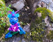 Polymer Clay Dragon 'Azul' - Limited Edition Handmade Collectible