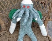 H.P. Lovecraft's Immortal Cthulhu Inspired Sock Monkey Doll