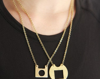 Suzie // handcrafted eco friendly necklace // square pendant