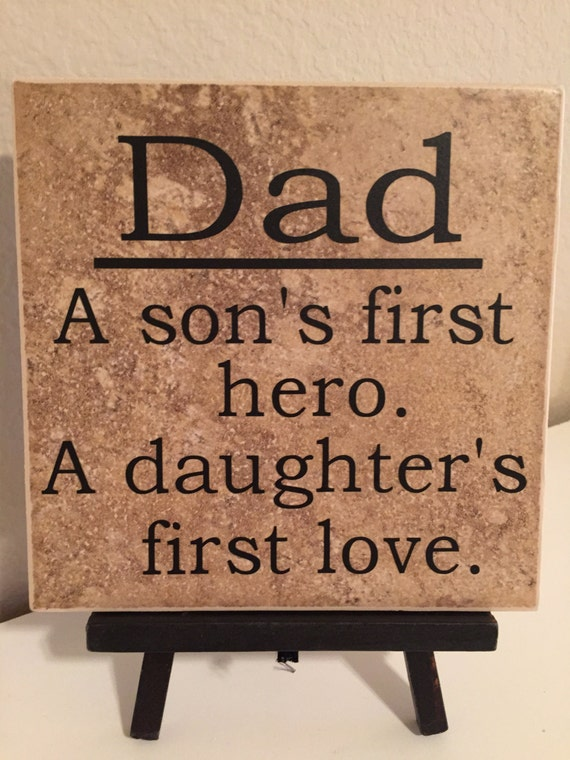 Download Dad A Son's First Hero A Daughter's First by FussyMussyDesigns