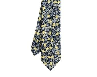Mason - Navy/Yellow Floral Men's Tie