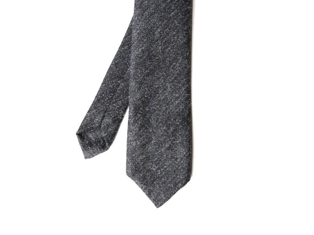 franz charcoal gray wool s tie by bowtieandcotton on etsy