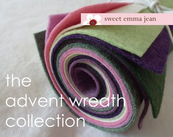 9x12 Wool Felt Sheets - The Advent Wreath Collection - 8 Sheets of Felt
