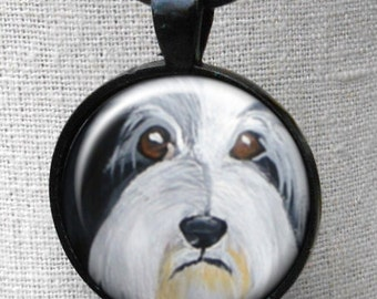 Bearded Collie Necklace  ~ July birthday  ~ Girlfriend Gift ~ Beardie Owner Gift ~ Dog Necklace