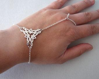 Silver Slave Bracelet  - silver bracelet , celtic bracelet , celtic jewelry ,  bridal accessorie , elvish bracelet , elvish jewelry